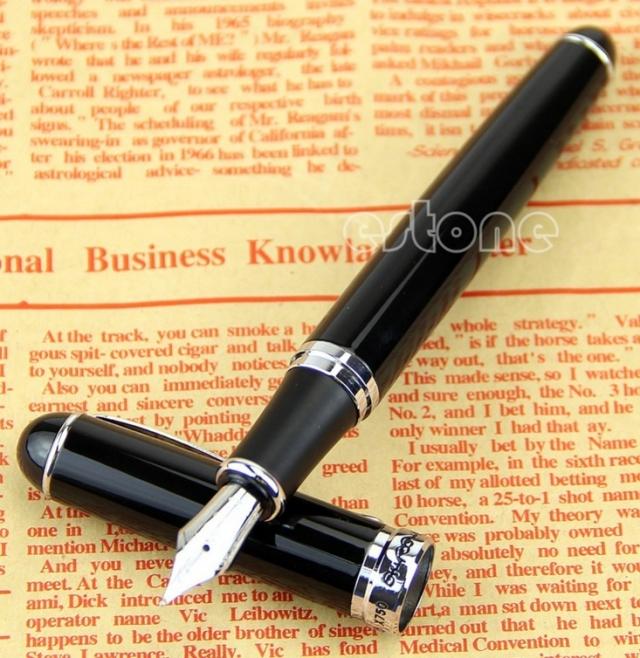 Jinhao X750 Deluxe Black 18kgp M Nib J35-29242 ($2.75 FS)